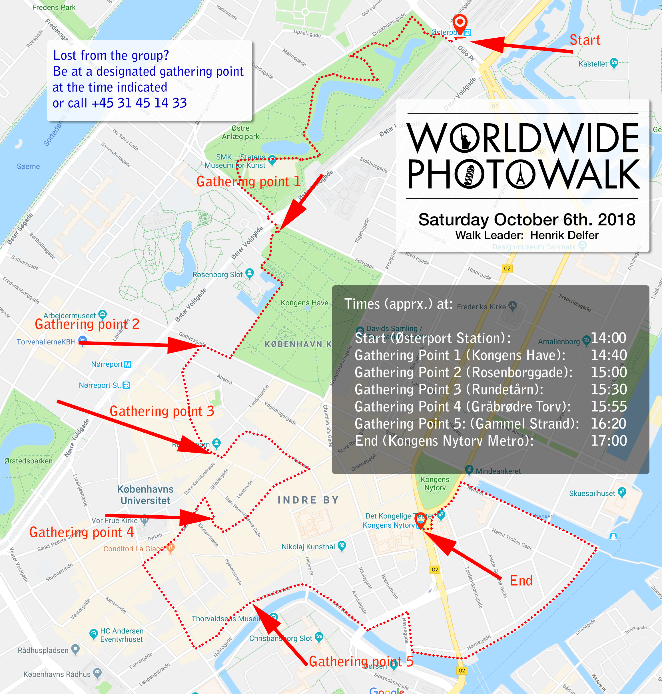 Map of this years route